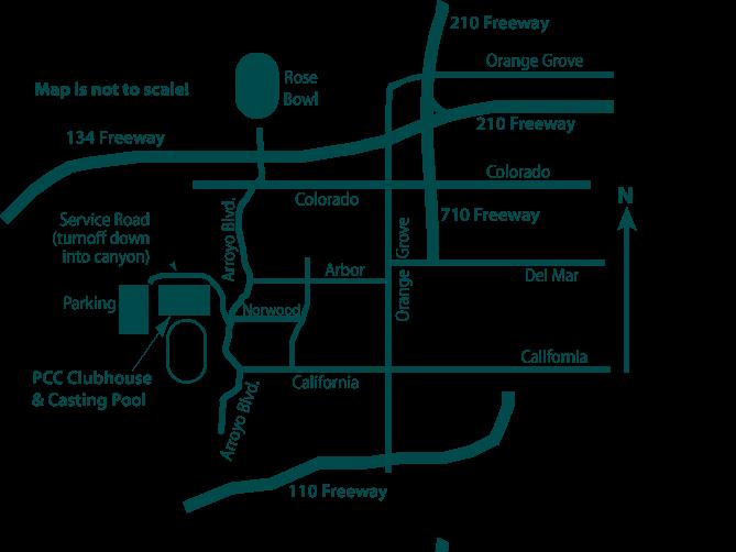 Orange Grove California Map.Clubhouse Directions Pasadena Casting Club