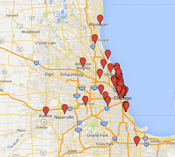 Map of Ushering Venues
