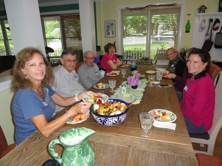 We gathered at Liz's house in Parkwood; she made a FABulous fruit salad!