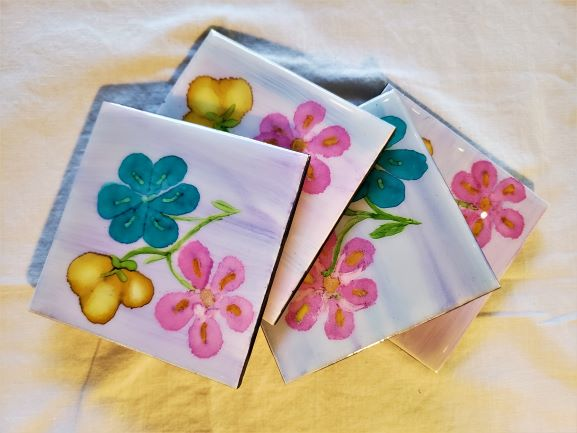 FLOWER TRIO SET COASTERS
