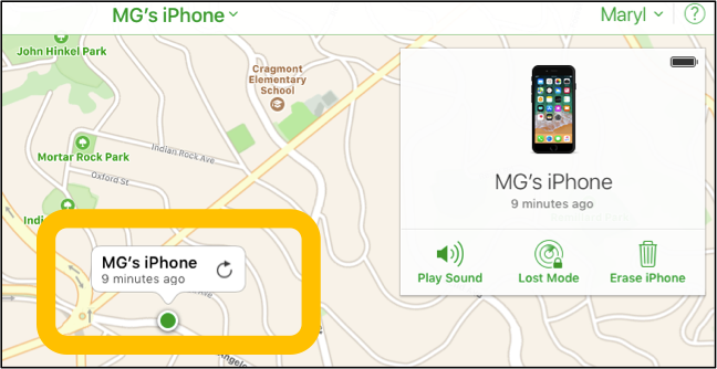 iPhone Found Location