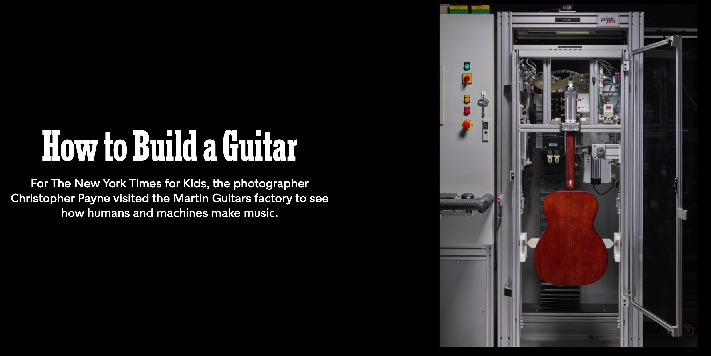 NY Times How to Build a Guitar