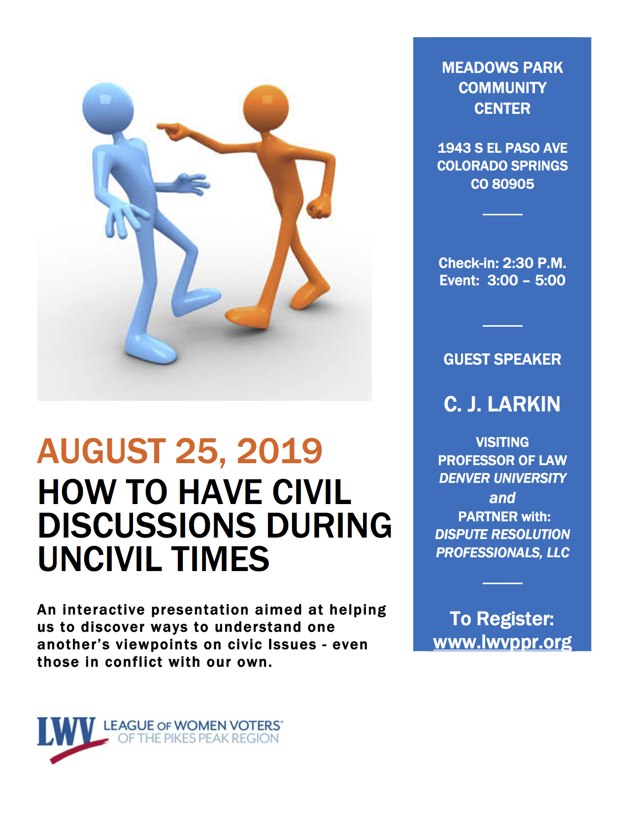 How to Have Civil Conversations in Uncivil Times, August 25th
