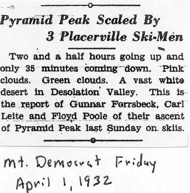 Articles from Placerville's Mt. Democrat