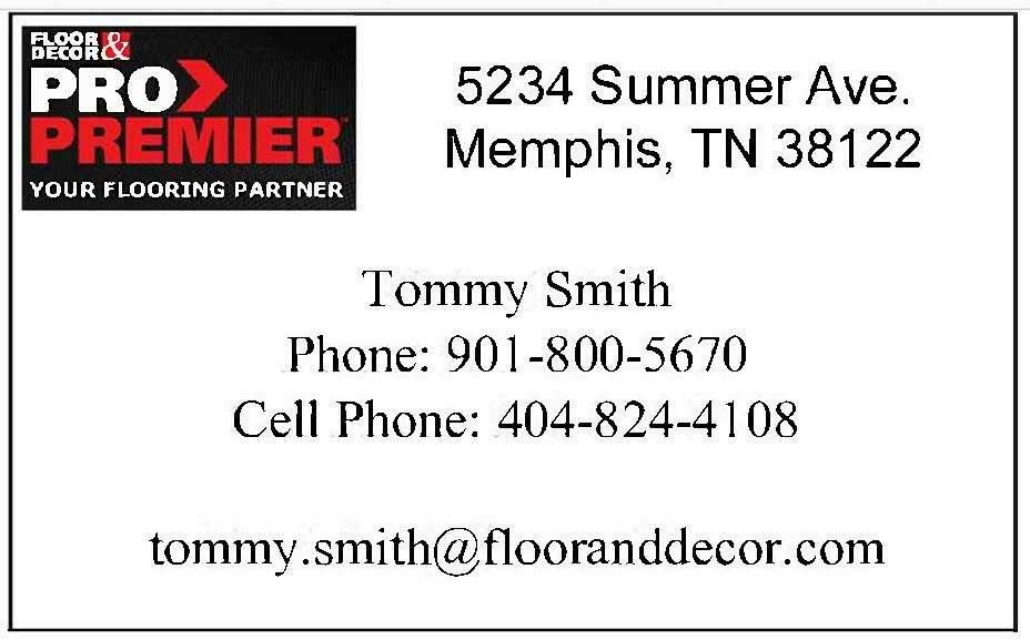 Floor and Decor Pro Card Tommy Smith