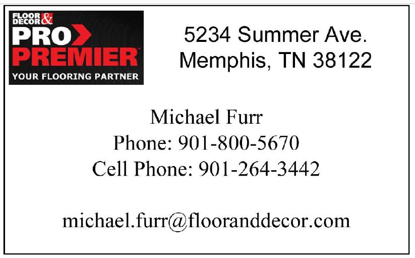 Floor and Decor Pro Card Michael Furr