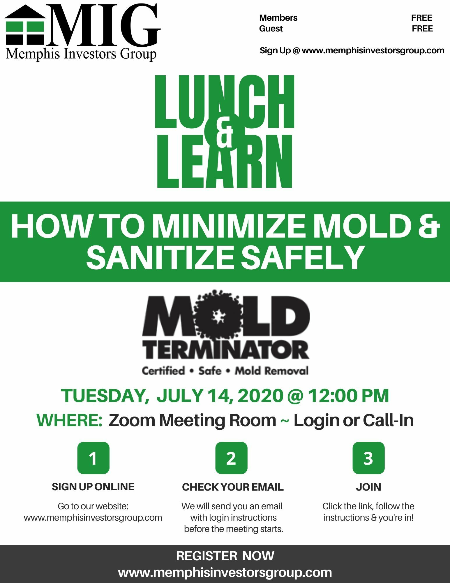 Lunch and Learn 2020 Jul 14 Mold Terminator
