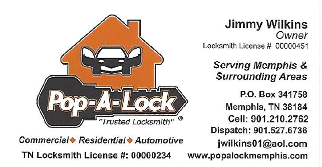 Pop a Lock basic Business Card