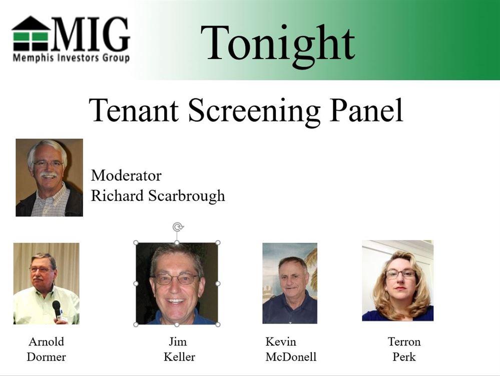 Tenant Screening Panel