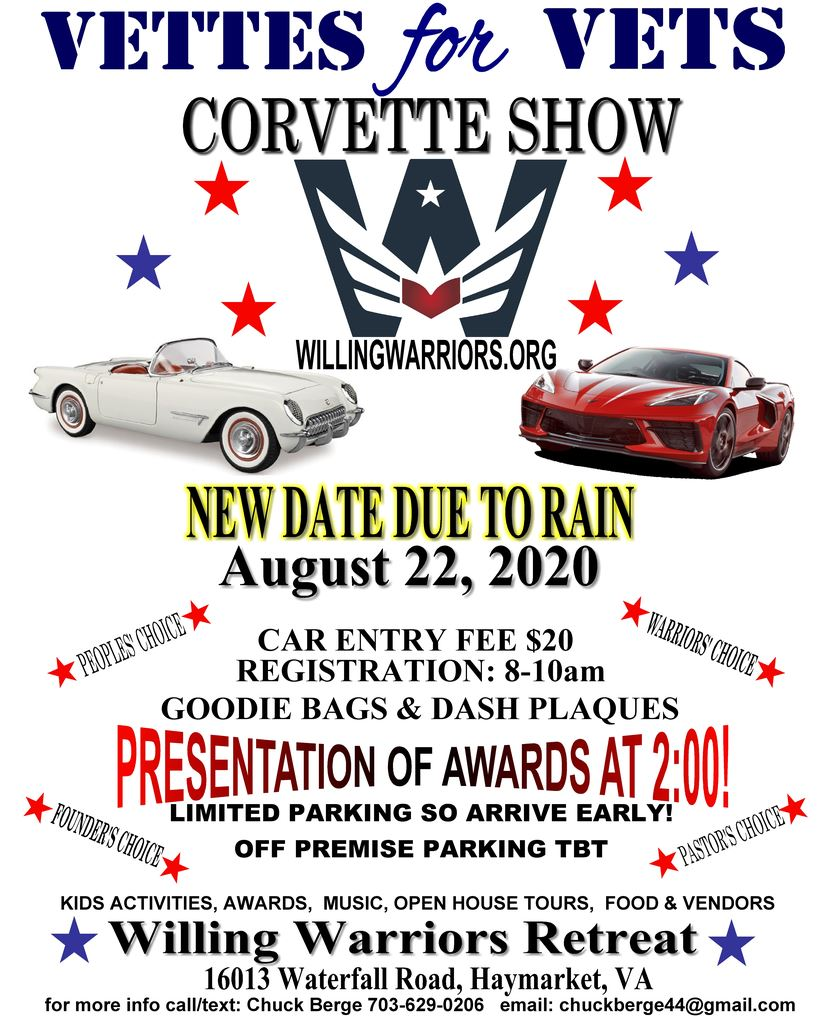 Vettes for Vets Show at the Warrior Retreat in Haymarket, VA