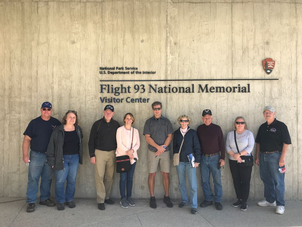 5 club members and spouses visited the Flight 93 Memorial in Stony Creek township Pennsylvania on Nov 7th, 2020
