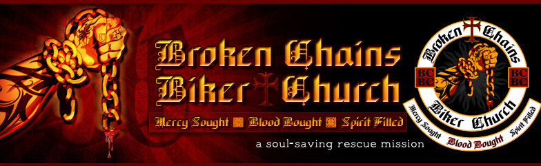 Broken Chains Biker Church Banner