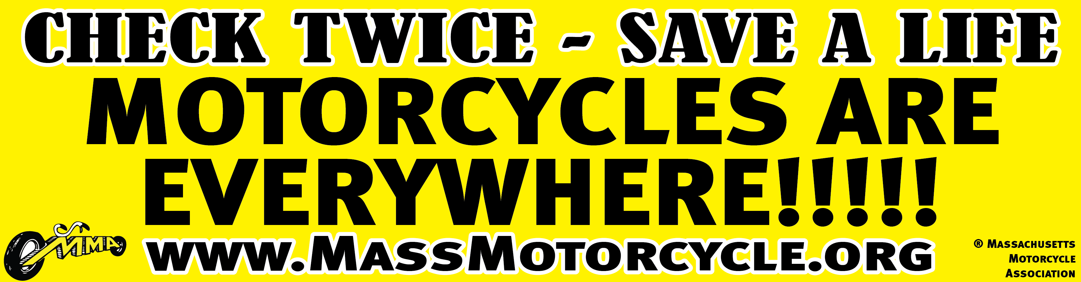News Articles Massachusetts Motorcycle Association - Custom motorcycle bumper stickers awareness