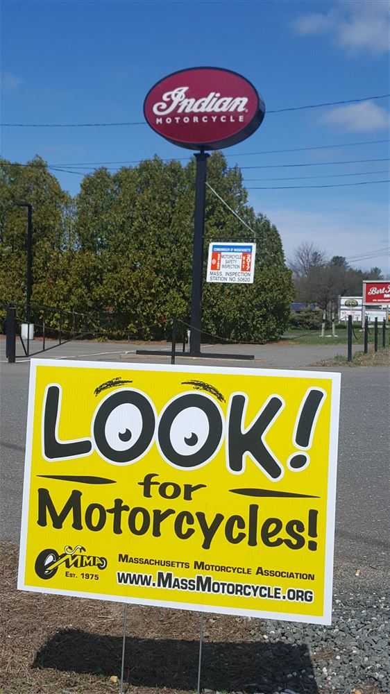 """LOOK! For Motorcycles"" Safety & Awareness Campaign Signs"