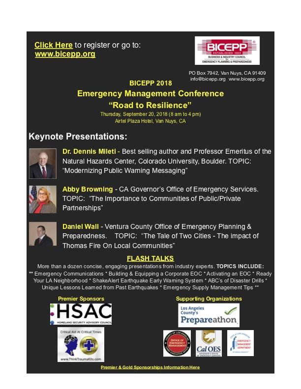 2018 BICEPP Emergency Management Conference -