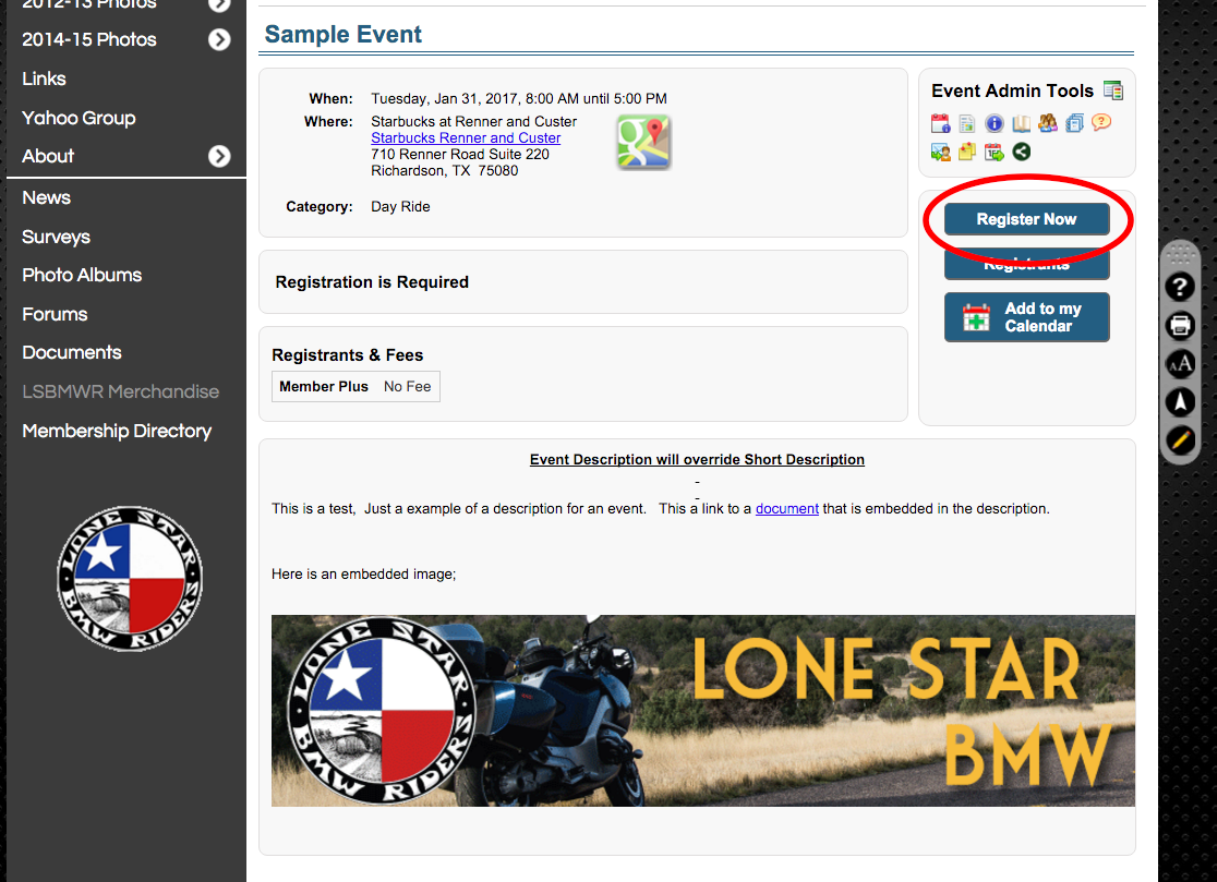 Event Register