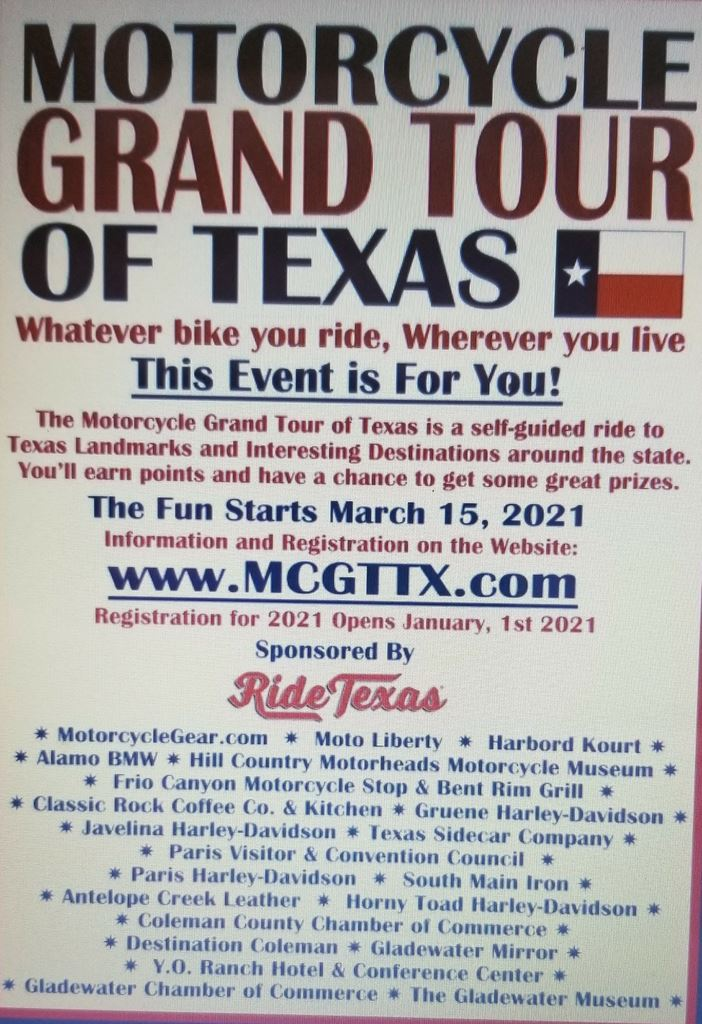 A collection of club member pictures taken at the Ride Texas GRAND TOUR locations.