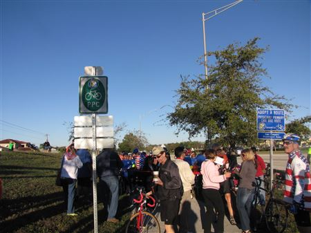 Pics from the ribbon cutting ceremony for some of the Cape Coral bike routes. March 2014