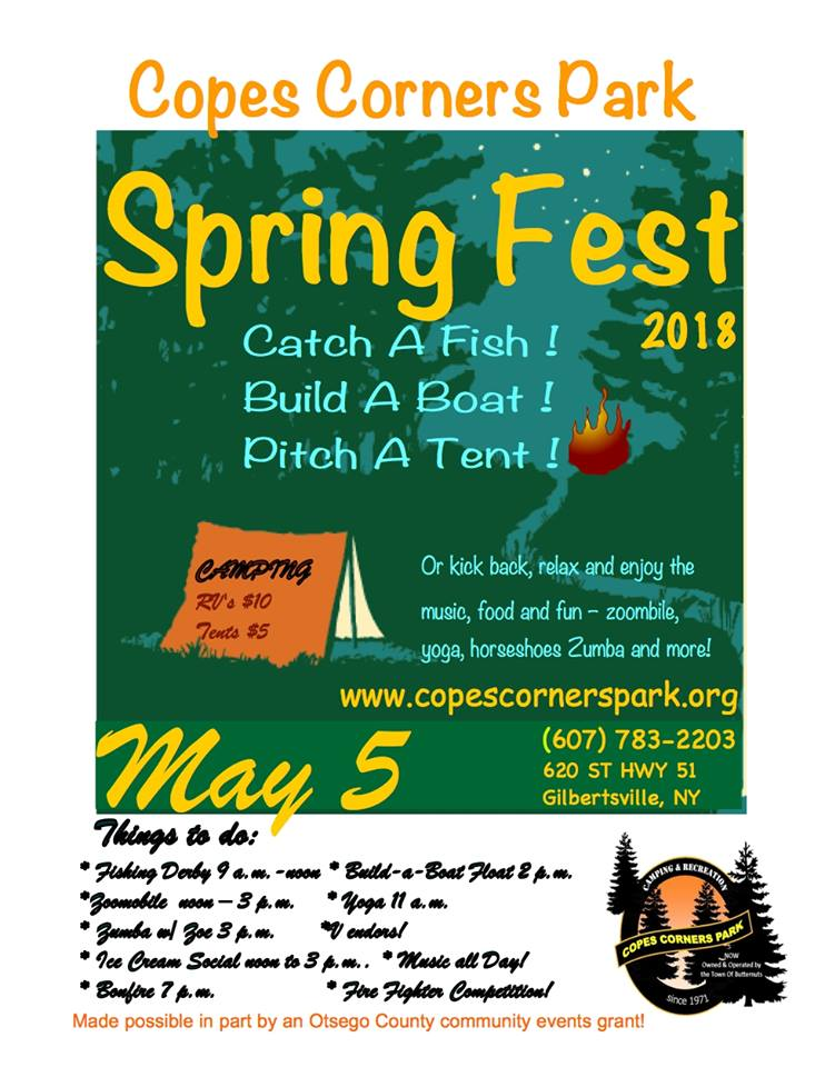 2018 Copes Corners Spring Fest poster