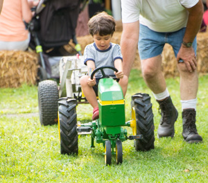 2018 Summer Harvest Festival Child on Tractor