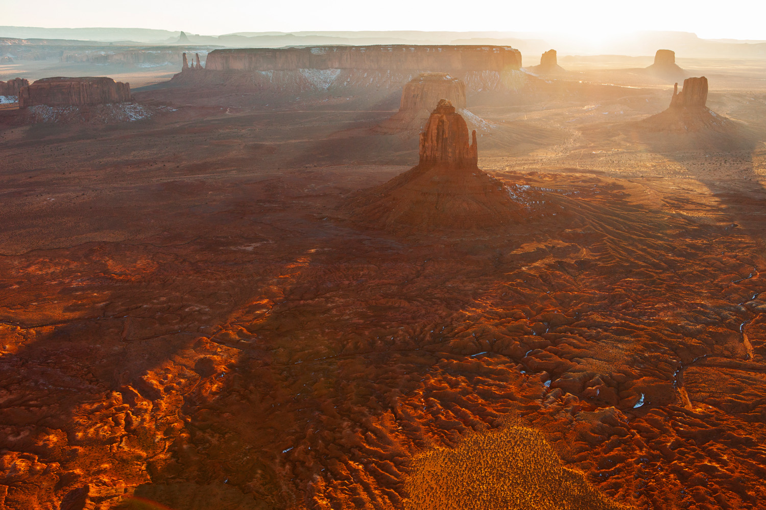 Backlit Buttes by Allen Macbean