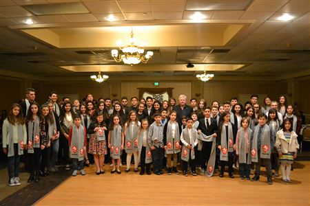 Some eighty AYF Juniors gave their Junior's Promise at a dinner dance at the Pasadena Armenian Center on December 12, 2015.