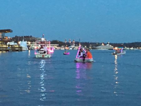 Dinghy Parade before Petalpalooza Fireworks