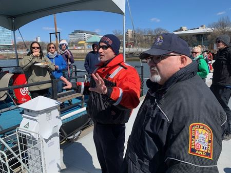 GPSA, POWYC and CYC train on boater safety with the DC Fire Department.