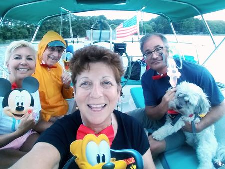 During the weekend of June 8-9, 2019, Bev and Allen Wright ventured across the Bay to Baby Owl Cove on s/v Whoosh with guests Donna and Mike, and Bev's pup, Tanner, on his third cruise of the season.