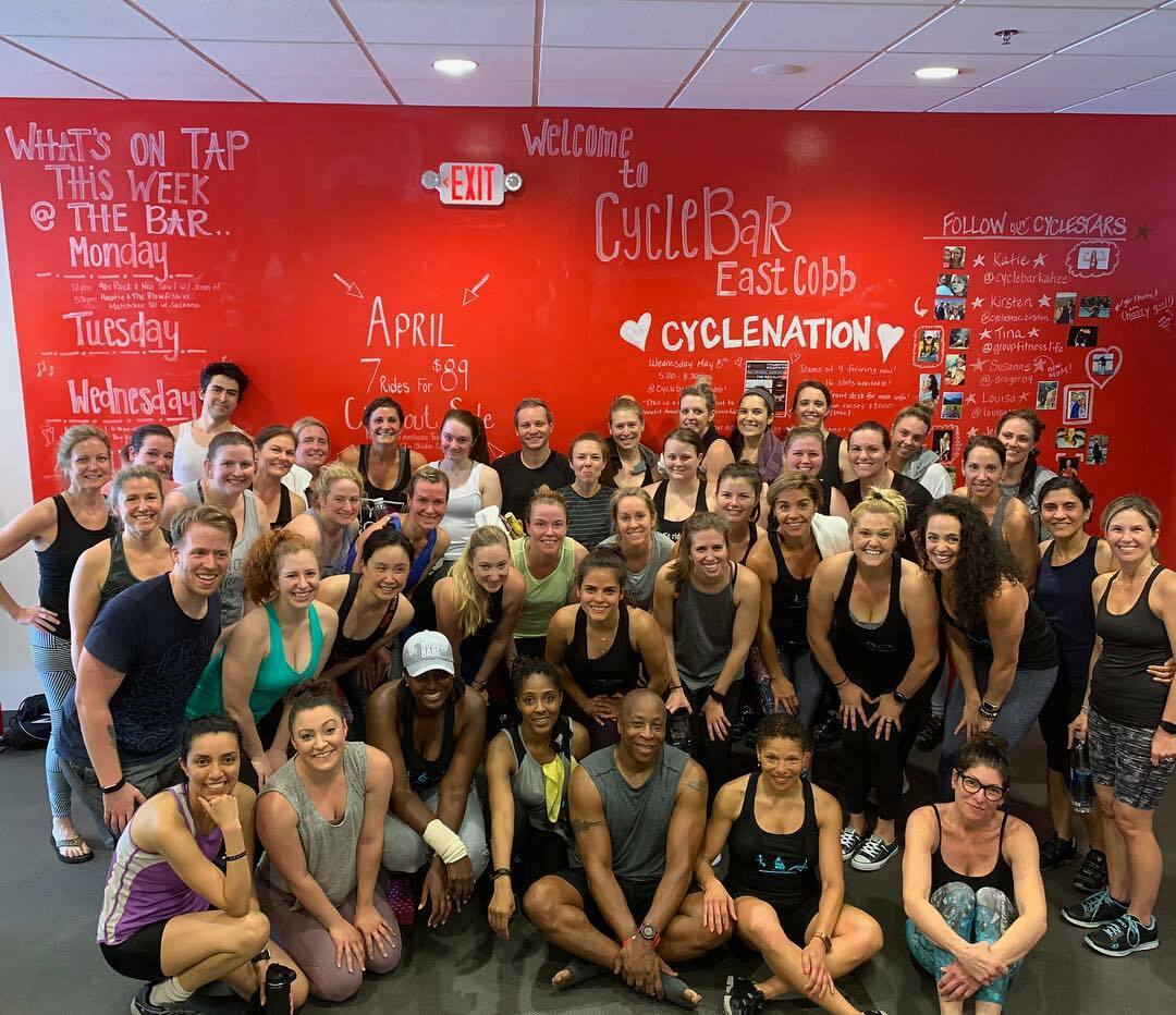 CYCLEBAR East Cobb ~ Group Photo