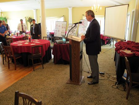 May 2011 Luncheon, sponsored by ProPainting and Remodeling - East Cobb's Best Painter for 2011. Dana Johnson, Manager of Planning for Cobb County Community Development, presented the proposed Johnson