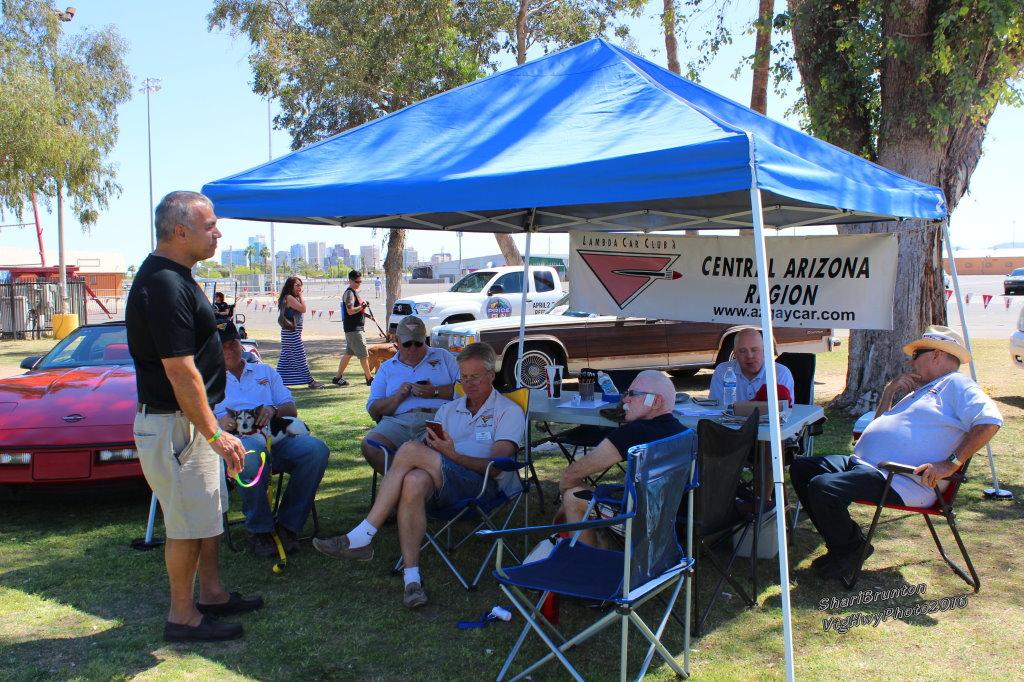 LCCI Central AZ Lambda Car Club International - Car show tent