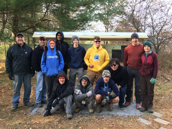 Jeremy Romano's Eagle Scout Project was at Audrey Carroll Audubon Society on November 9, 2019.  They constructed and installed a new bulletin board.