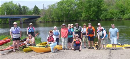 Menomonie to Dunnsville.  11miles, water was high and swift.  Landings were very muddy (as you can see)  15 paddlers.