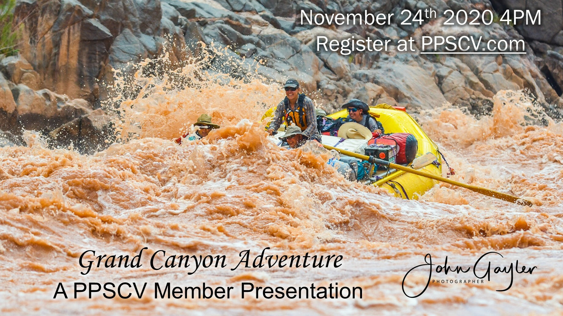 PPSCV Member Presentation Rafting the Grand Canyon Event
