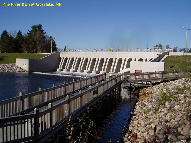 US Army Corps of Engineers dam at Crosslake