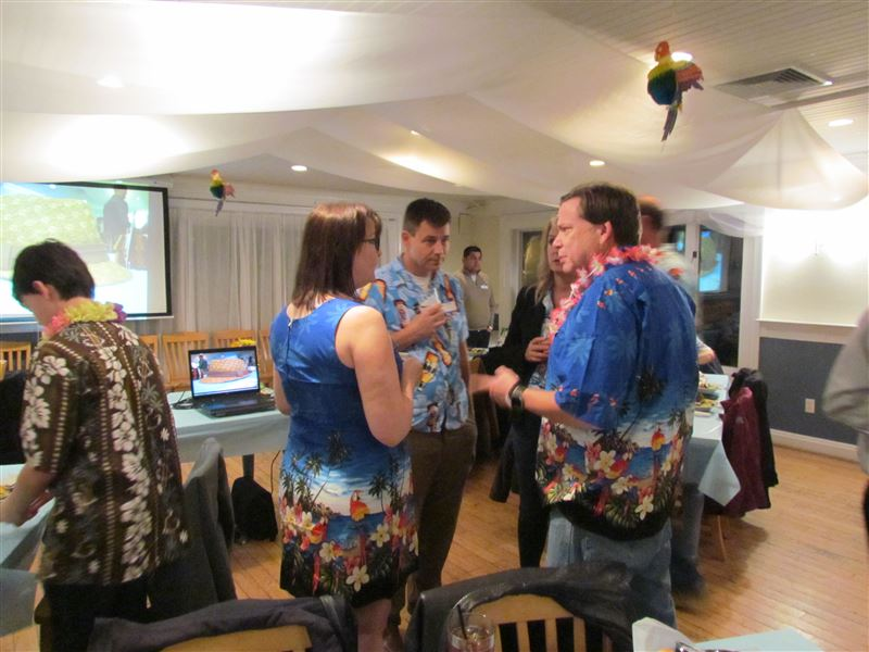 Snaps from our Hawaiian themed dinner 2/11/17