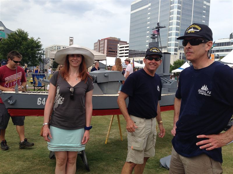Association of Naval Engineers Tidewater (ASNE)Quick N' Dirty Boatbuilding Competition - raises money for engineering scholarships.  USS Wisconsin build . . . support provided by NPSC