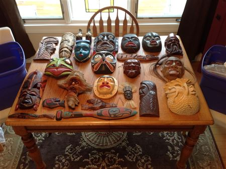 Carvings donated to CACW by Martin Johnson.