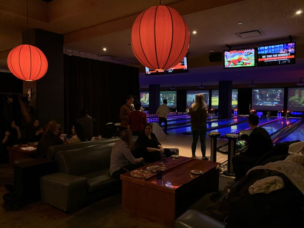 Networking event at Lucky Strike for young tax professionals