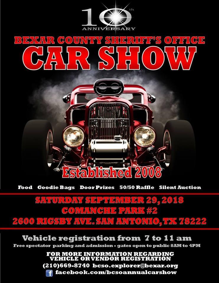 Th Annual Bexar County SheriffS Office Annual Open Car Show - Car show in san antonio tx