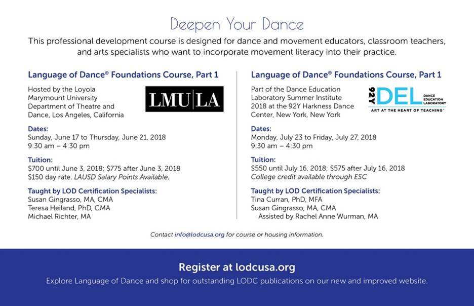 Language Of Dance Foundations Course Part 1 Events National