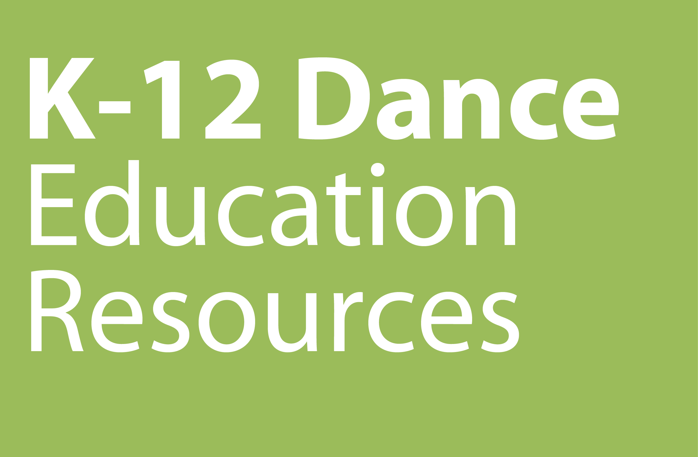 K12 Dance Ed Resources