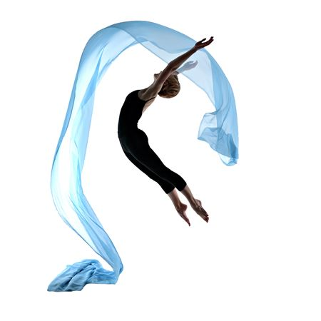 dancer with blue scarf