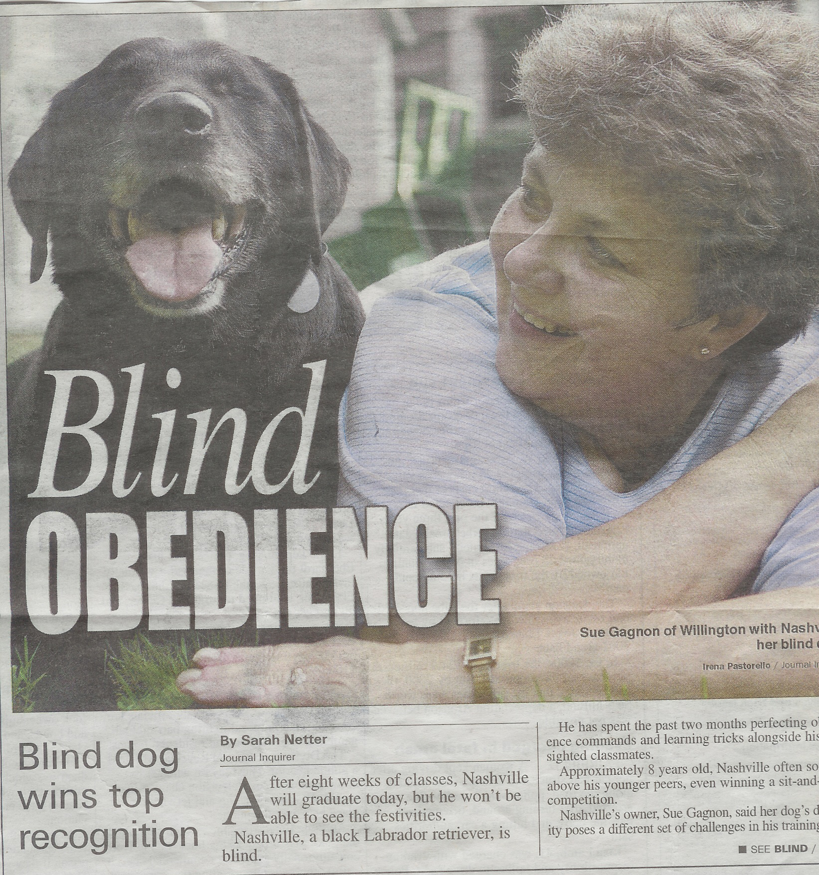 Blind Obedience, Nashville and Sue