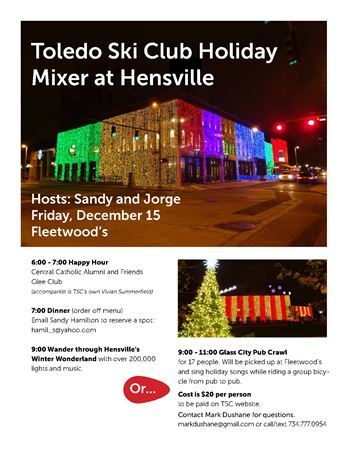 2017 December Holiday Mixer at Fleetwoods, and Pub Crawl