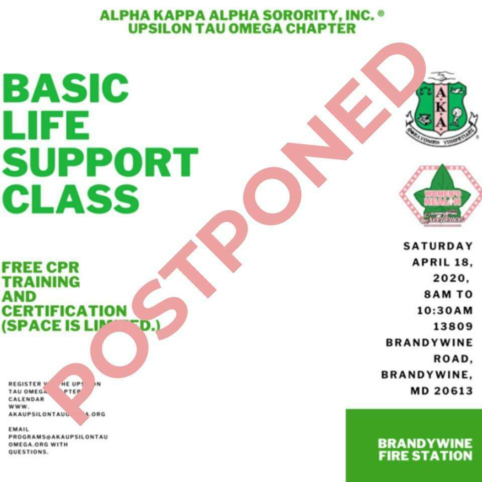 2020 Basic Life Support Class Flyer --POSTPONED