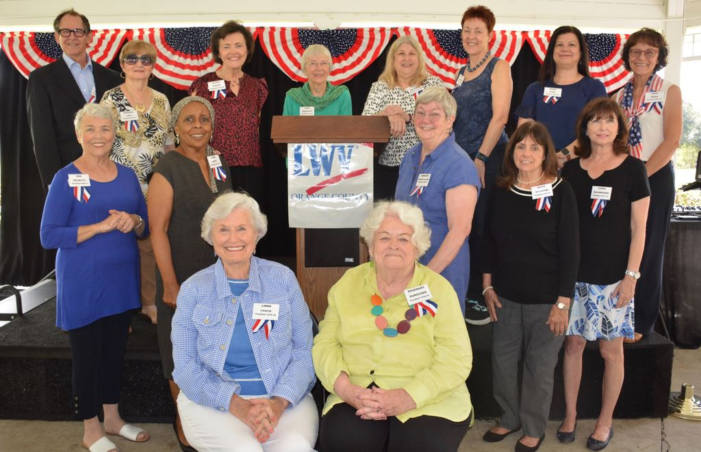 League Women Voters Orange County planting the Voter Tree Cyprus Grove Park Oct. 20 with 16 former League Presidents! Thanks to Joan Irwin & Ann Patton,w/speakers Linda Chapin,Maya Uribe, Pat Brigham.