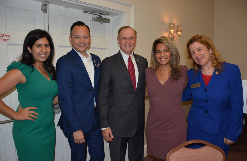 Sept 11,2019 League of Orange Cnty Hot Topic Legislative Update. Panelists Sen. David Simmons Pres Pro Temp; Reps Anna Eskamani, Carlos Guillermo Smith, Joy Goff-Marcil. Moderator Nicolette Springer.