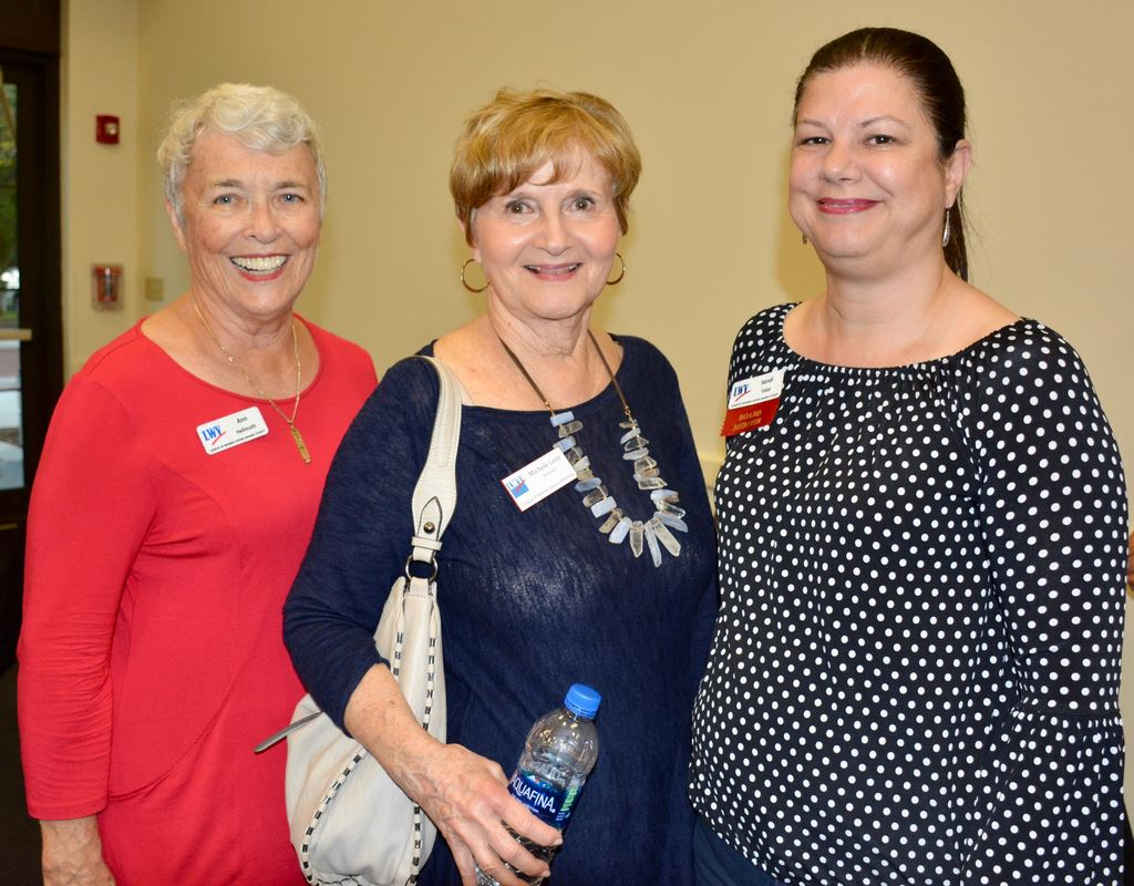 Fall Showcase/Orientation for the  League of Women Voters, Orange County in Winter Park Oct. 22, organized by the Membership Committee, thanks to Pat Grierson and Michelle Levy, keynote speaker.
